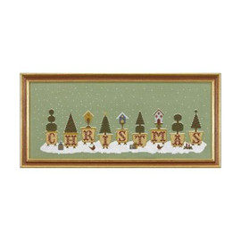 Christmas Pots Cross Stitch By Historical Sampler Company