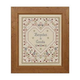 Confetti Wedding Sampler Cross Stitch By Historical Sampler Company