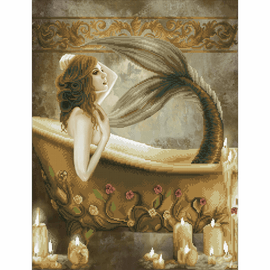 Diamond Painting Kit: Bath Time Mermaid By Vervaco