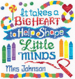 Teachers have a big heart Cross Stitch Chart by Ursula Michael