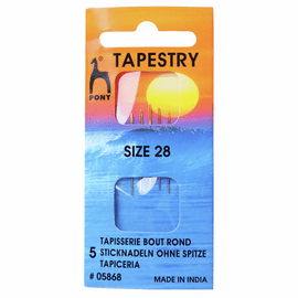 Hand Sewing Needles: Gold Eye: Tapestry Size 28