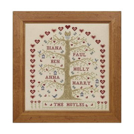 Family Tree Sampler Cross Stitch By Historical Sampler Company