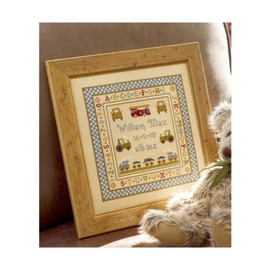 Fire Engine Cross Stitch By Historical Sampler Company