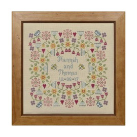Flower Wedding Cross Stitch By Historical Sampler Company