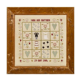 Four Hearts Wedding Sampler By Historical Sampler Company