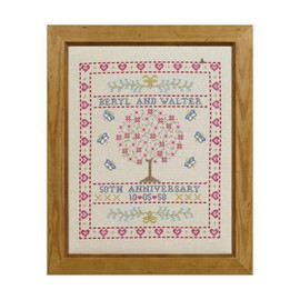 Folk Anniversary Cross Stitch By Historical Sampler Company