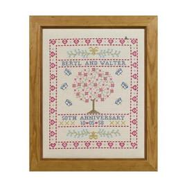 Folk Anniversary Cross Stitch By Historical Sampler Company