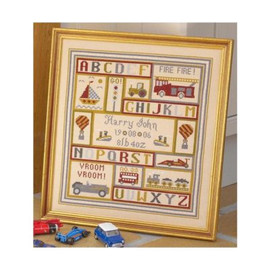 Get Set Go Birth Cross Stitch By Historical Sampler Company