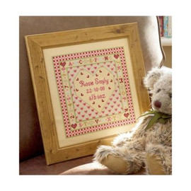 Heart Birth Cross Stitch By Historical Sampler Company