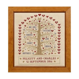 Heart And Tree Wedding Sampler Cross Stitch By Historical Sampler Company