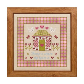 Home Is Where The Heart Is Cross Stitch By Historical Sampler Company