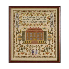 House Cross Stitch Sampler By Historical Sampler Company