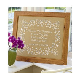 I Loved You Cross Stitch By Historical Sampler Company