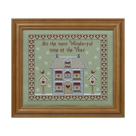 It's The Most Wonderful Time Of The Year Cross Stitch By Historical Sampler Company