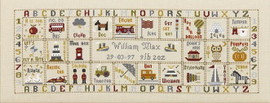 Just For A Boy Cross Stitch By Historical Sampler Company