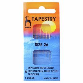 Hand Sewing Needles: Gold Eye: Tapestry Size 26