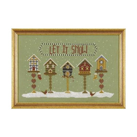 Let It Snow Cross Stitch By Historical Sampler Company