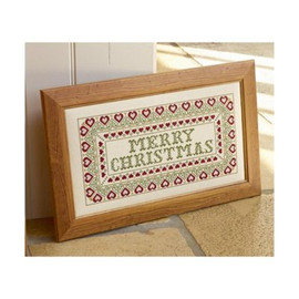 Merry Christmas Cross Stitch By Historical Sampler Company