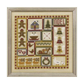 Mini Christmas Patchwork Cross Stitch By Historical Sampler Company