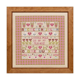 Owl And Pussy Cat Cross Stitch By Historical Sampler Company