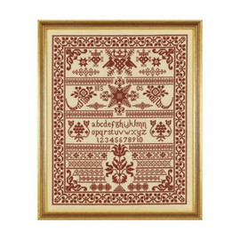 Red Pot Sampler Cross Stitch By Historical Sampler Company