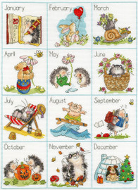 Calendar Creatures Cross Stitch Kit by Margaret Sherry