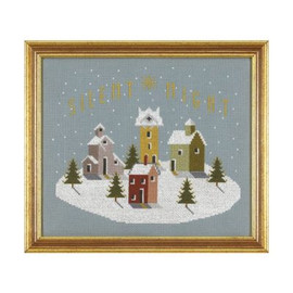 Silent Night Cross Stitch By Historical Sampler Company