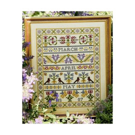 Spring Band Cross Stitch By Historical Sampler Company