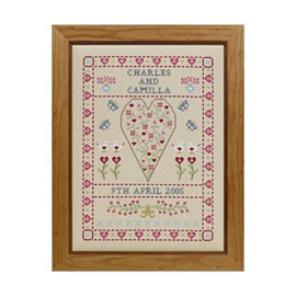 Swag And Heart Wedding Sampler Cross Stitch By Historical Sampler Company