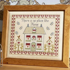 There Is No Place Like Home Cross Stitch By Historical Sampler Company