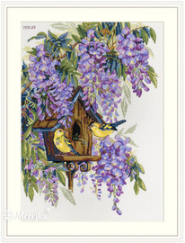 Wisteria Cross stitch kit by  Merejka