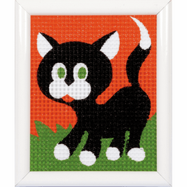Black Kitten Tapestry Kit By Vervaco