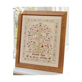 Tree A-Z Cross Stitch Birth Sampler By Historical Sampler company