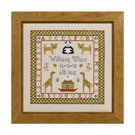 Two By Two Cross Stitch Birth Sampler By Historical Sampler Company
