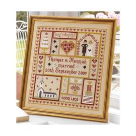 Wedding Patchwork Cross Stitch By Historical Sampler Company