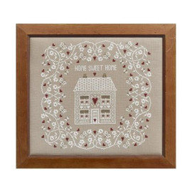 White Home Sweet Home Cross Stitch By Historical Sampler Company
