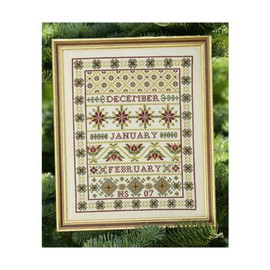 Winter Band Sampler Cross Stitch By Historical Sampler Company