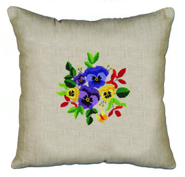 Pansies Pillow Punch Kit By Solocraft