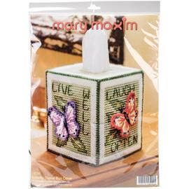 "Mary Maxim Plastic Canvas Tissue Box Kit 5"""