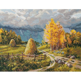 AUTUMN THUNDERSTORM Cross stitch Kit by Oven