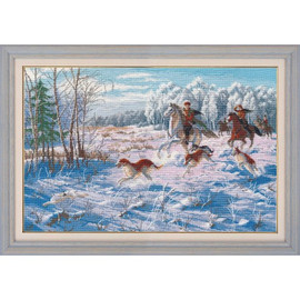 WINTER HUNTING cross stitch kit by OVEN