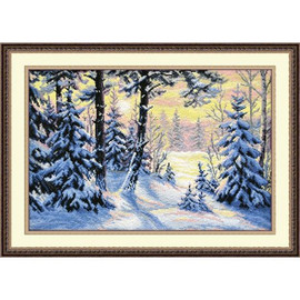 WINTER FOREST cross stitch kit by OVEN