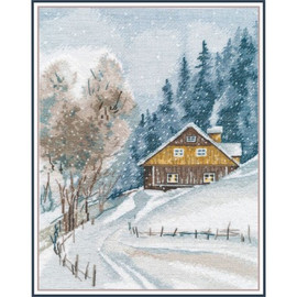 WINTER SILENCE cross stitch kit by OVEN