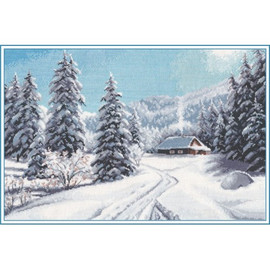 WINTER DAY cross stitch kit by OVEN