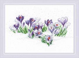 Crocuses Under the Snow Cross Stitch Kit By Riolis