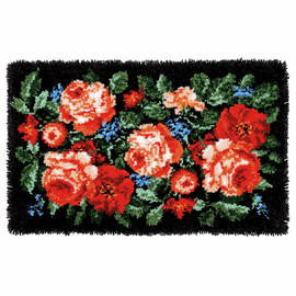 Latch Hook Rug Kit: Roses By Vervaco
