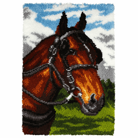 Latch Hook Kit: Rug: Horse By Orchidea