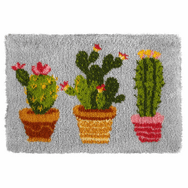 Latch Hook Kit: Rug: Cactus By Orchidea