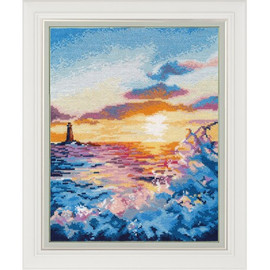 SUNSET AT THE SEA cross stitch kit by OVEN