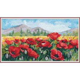 POPPIES cross stitch kit by OVEN